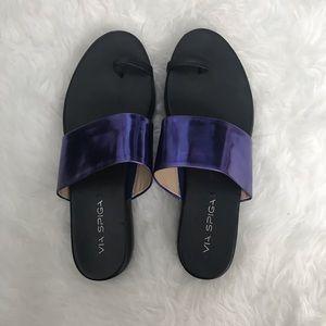 Via Spiga Purple Slides